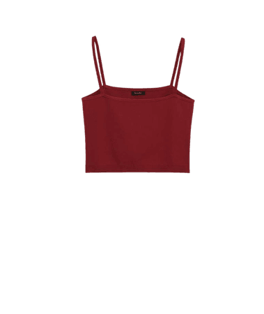 Knit vest top - Women - Massimo Dutti