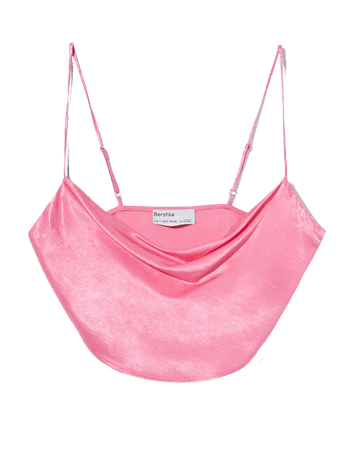 Satin camisole top - Tees and tops - Woman | Bershka