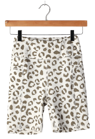 Cream Leopard Print Shorts - Bike Shorts - Women's Bike Shorts - Lulus