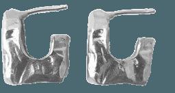 Nur Sterling Silver Hammered Hoop Earrings By Reggie   Moda Operandi