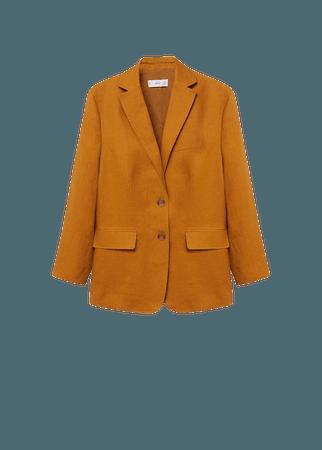 100% linen blazer - Women   Mango USA