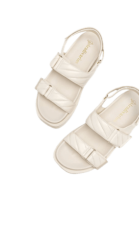 Quilted flat sandals - Women's Just in | Stradivarius United States