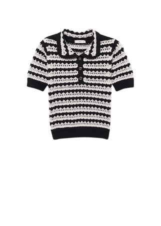 Knit cotton polo shirt - Women | Mango USA