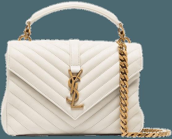Saint Laurent Medium College Leather Shoulder Bag - Farfetch
