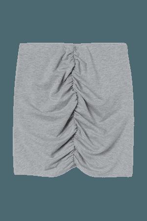 Draped Skirt - Gray