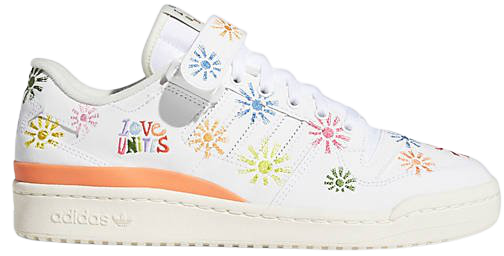 adidas Originals Pride Forum sneakers in white with all over print | ASOS