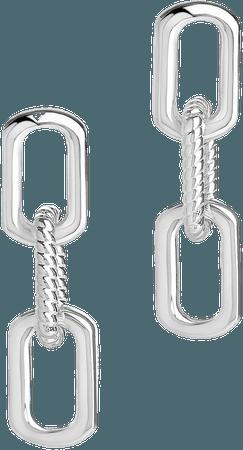 Sterling Forever Triple Link Drop Earrings | Nordstrom