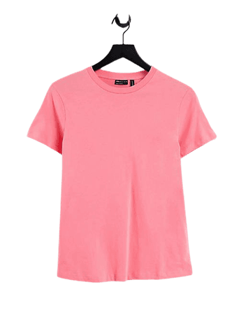 ASOS DESIGN ultimate organic cotton t-shirt with crew neck in coral | ASOS