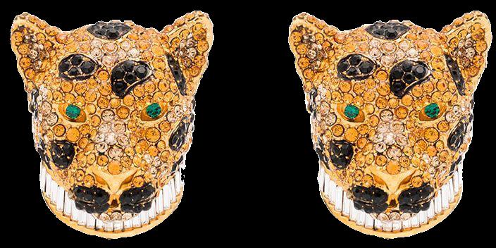 Dolce & Gabbana Encrusted Leopard Earrings - Farfetch
