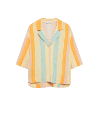 Printed flowy shirt - Women | Mango USA
