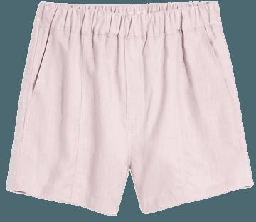 Linen-Blend Easy Pull-On Shorts