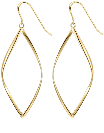 Amazon.com: 14K Yellow Gold Plated Infinity Sterling Silver Post Hoop Earrings for Women: Clothing