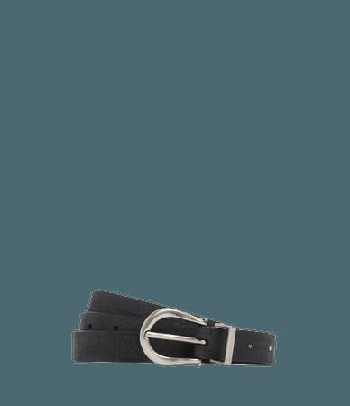 ALLSAINTS US: Womens Luna Leather Belt (black)