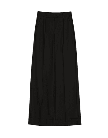 Wide-leg waistband pants - Pants - Woman | Bershka