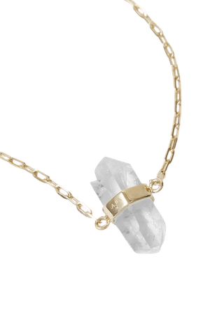Clear 14-karat gold quartz bracelet   JIA JIA   NET-A-PORTER