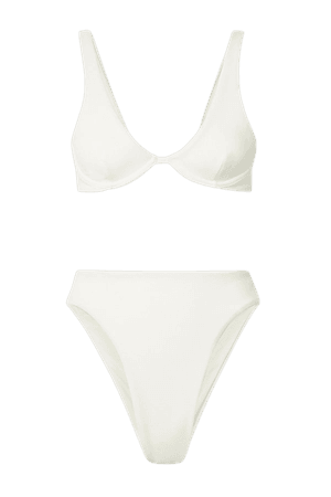 Off-white Mah stretch-crepe underwired bikini | Haight | NET-A-PORTER