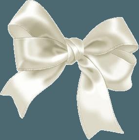 white bow satin ribbon png filler