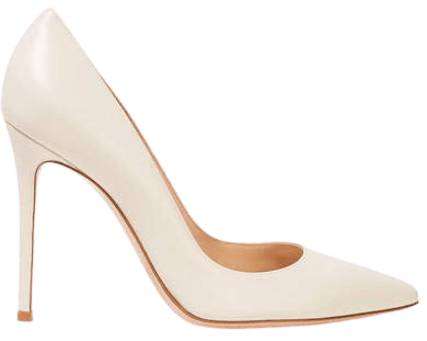 105 Leather Pumps - Off-white