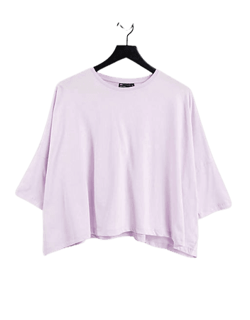 ASOS DESIGN slouchy T-shirt with batwing sleeves in lilac   ASOS