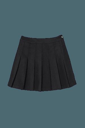 Pleated Skirt - Black - Ladies   H&M US
