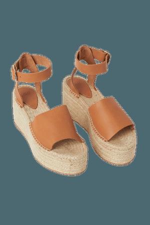 Leather Espadrille Sandals - Light brown - Ladies | H&M US