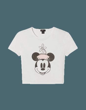 Short sleeve Mickey Mouse T-shirt - Tees and tops - Woman   Bershka