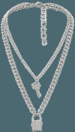 Zaful lock key decoration chain necklace