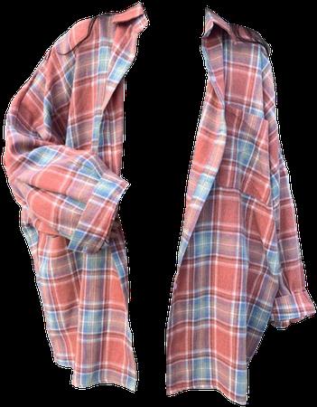 pink flannel shirt