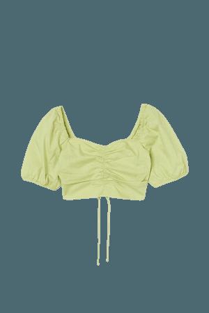 Crop Top - Light yellowish green - Ladies | H&M US