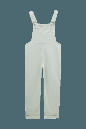 Oversize long denim overalls - pull&bear