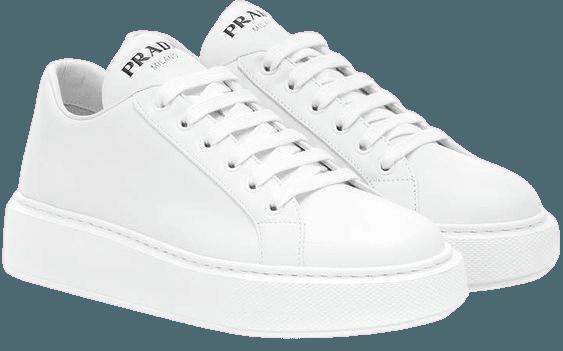 White PRADA sneakers
