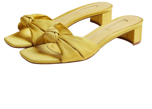 DRAGON Yellow Knot Mules   Topshop