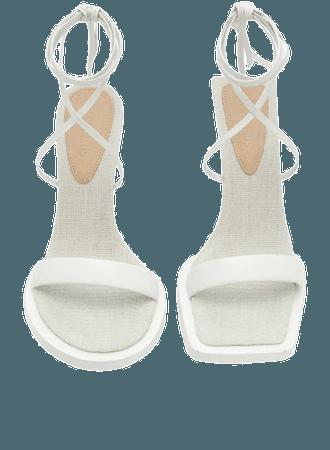 Les Carre Rond Asymmetric Leather Sandals By Jacquemus | Moda Operandi