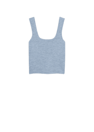 Knitted cropped top - Women   Mango USA