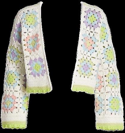 cardigan crochet  green