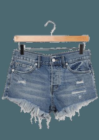 Free People Loving Good Vibrations - Denim Shorts - Cutoff Shorts - Lulus