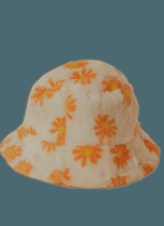 Bring Me flowers Bucket Hat - Orange floral – Peppermayo US