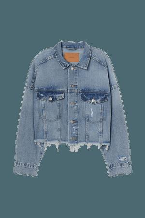 Boxy Denim Jacket - Blue