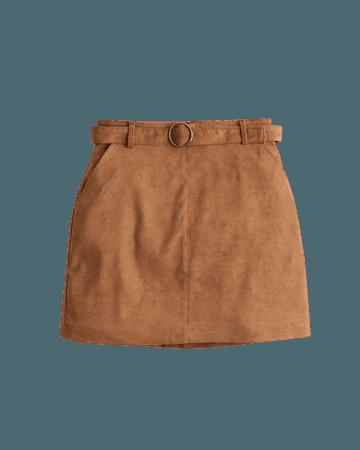 Girls Ultra High-Rise Faux-Suede Mini Skirt   Girls Bottoms   HollisterCo.com