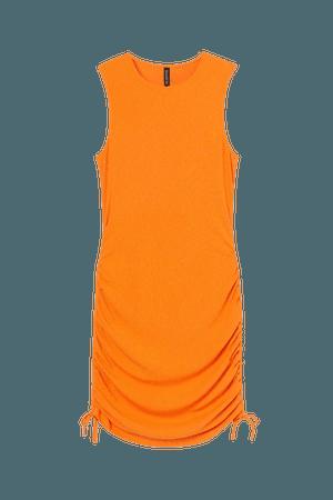 Ribbed Jersey Dress - Orange - Ladies   H&M US