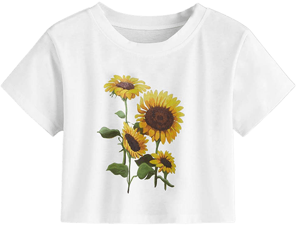 MakeMeChic Women's Short Sleeve Cute Print Crop Top Summer Tee Shirt Grey Letter L at Amazon Women's Clothing store