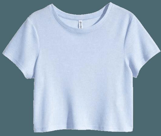 Light Blue Crop Top