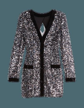 Velvet sequined dress - Dresses - Woman | Bershka
