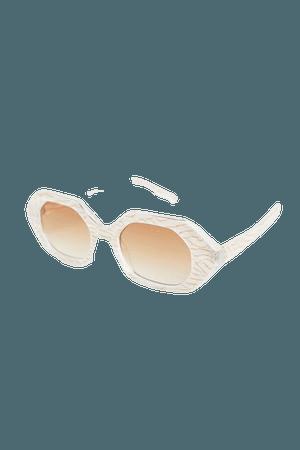 Lazlo Hexagon Sunglasses   Urban Outfitters