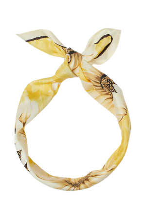 Scarf/Hairband - Light yellow/sunflowers - Ladies | H&M US