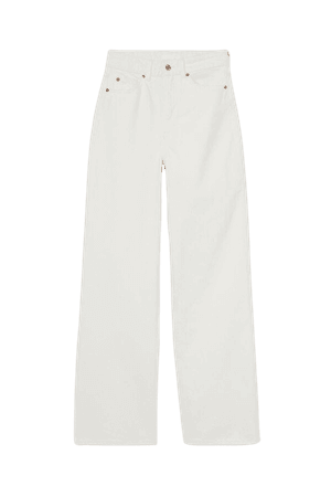 Wide High Jeans - White