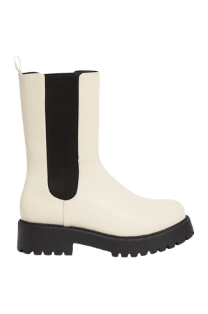 Chunky chelsea boots - Dusty white - Boots - Monki WW