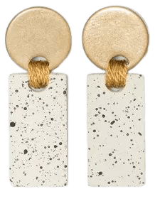 Disc And Speckled Bar Drop Earrings - Universal Thread™ Ivory : Target