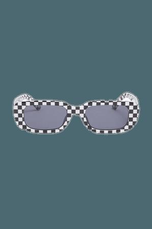 Oval framed sunglasses - Checkerboard - Sunglasses - Monki WW
