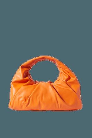 Orange The Shoulder Pouch medium gathered leather shoulder bag   Bottega Veneta   NET-A-PORTER